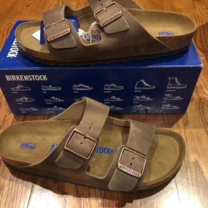 Birkenstock Arizona brown leather 10 narrow new